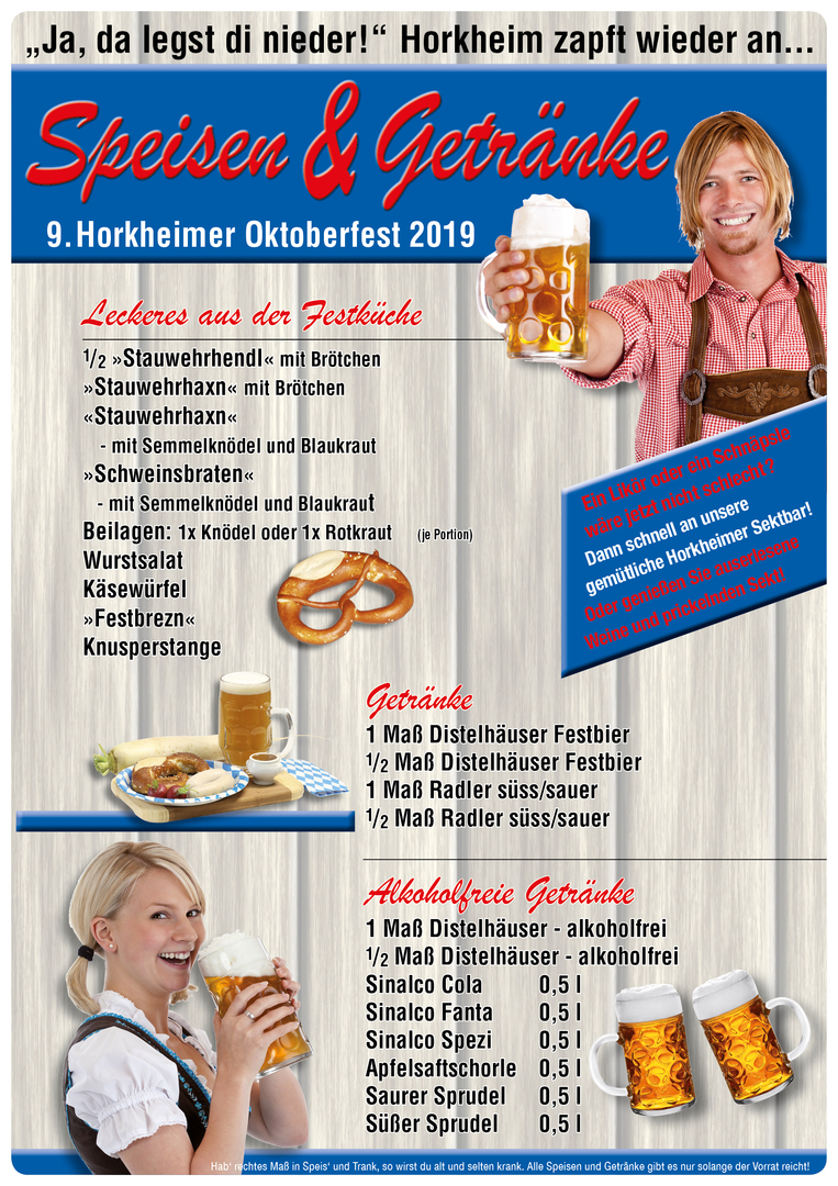 horkheimer tsb oktoberfest 2018 speisen und getr nke. Black Bedroom Furniture Sets. Home Design Ideas